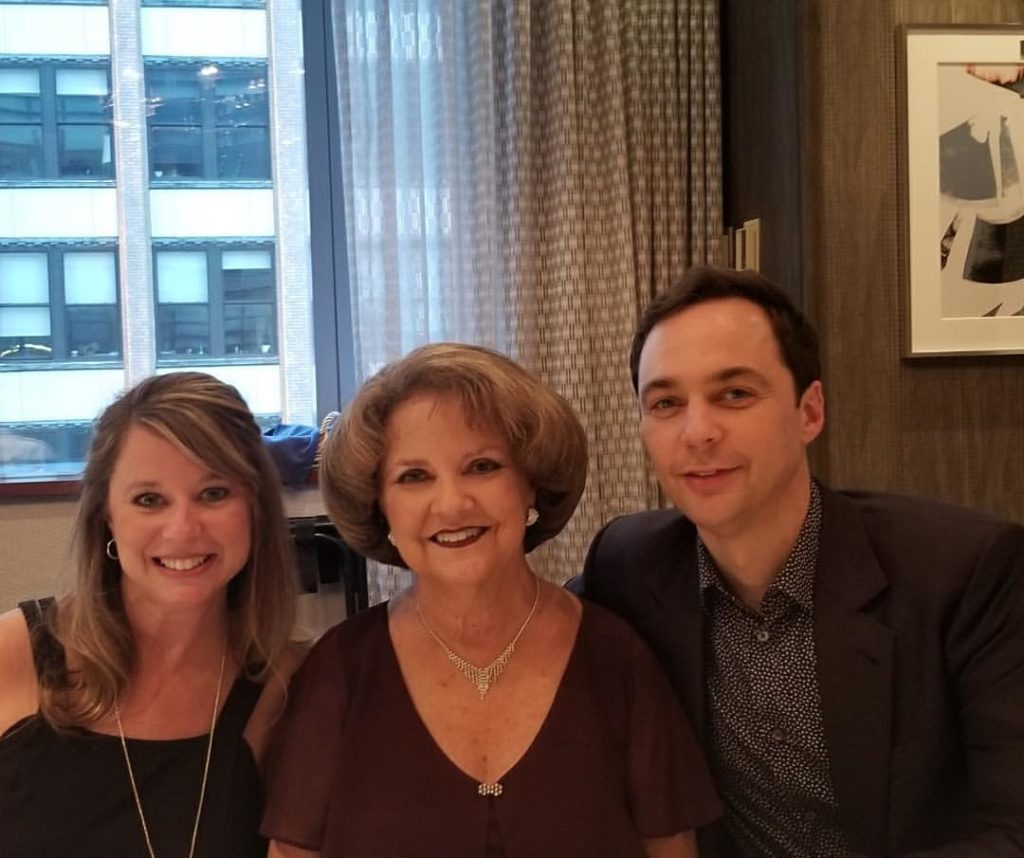 jim parsons with mother and sister